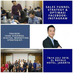 Pelatihan digital marketing sales funnel dan facebook instagram ads