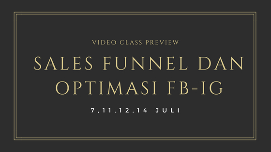 Workshop Sales funnel dan optimasi FB-IG. blog